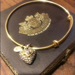 Juicy Couture Pave Crystal Heart Bracelet